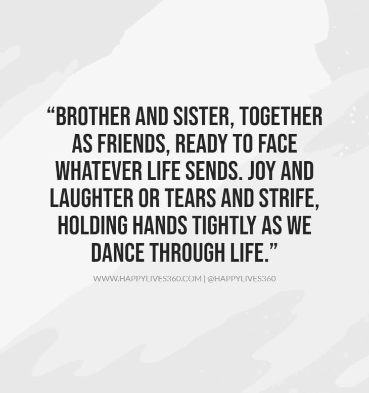10quotes about siblings bond